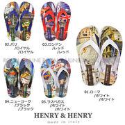 値下★【HENRY&HENRY】 フリッパー(ビーチサンダル) シティ 全5色 レディース&メンズ