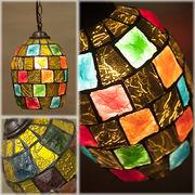 ★【Atelier Glass Lamp 】チェーン付き★アトリエグラス ランプ ランタンYELLOW MULTI ♪
