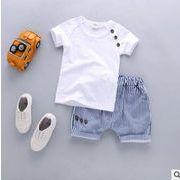 新入荷!!キッズファッション★★夏スタイルキッズセット★カジュアル★ パンツ+tシャツ2点セット