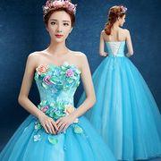 ウエディングドレス カラードレス花嫁ブライド ドレス  パーティードレス【結婚式】【披露宴】【二次会】