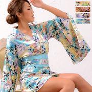 1020花柄ミニ着物ドレス 和柄 衣装 ダンス よさこい 花魁 コスプレ キャバドレス