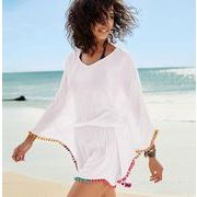 レディース UVカット 接触冷感 Tシャツ フリンジ 薄手 冷房対策 紫外線対策
