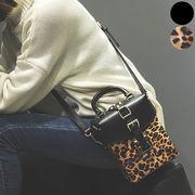 ★予約★バッグ 鞄 ショルダーバッグ ハンドバッグ 手提げバッグ  レオパード 豹柄 レザー レディース