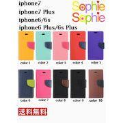 iPhone7/7Plus/SE/5/5s/6/6s/6 Plus 手帳型ケース  9colors[jks205]