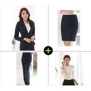 ★S~4L★大きいサイズ  OL通勤 通学 面接 就職活動 ビジネス レディーススーツ