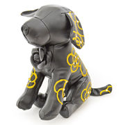 【デコレーション】カメリアドッグマネキンブラックSサイズ/レザー/ぬいぐるみ/小型犬/ハンドメイド