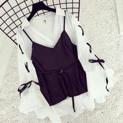 秋 セット 女 ファッション 新しいデザイン 韓国風 PUレザー ベスト ワンピース