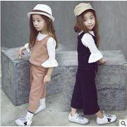 韓国風★新しいスタイル★キッズボン+ベスト★人気セットアップ サロペット 吊りズボン