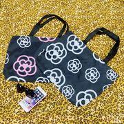 【セール771021】 新作 カメリアデザイン トートバッグ ☆camellia カバン 買い物袋 shop bag