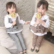 子供服セット 秋服 女 韓国風 新しいデザイン ストラップ 人形 T-ストラップ ズボン