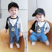 キッズ洋服 秋服 新しいデザイン 男児 ビブ 韓国風 赤ちゃんのズボン ルース ズボン