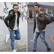 メンズ アウター ジャケット jacket 長袖 ストリート系 hiphop 秋 冬 薄め 全4色