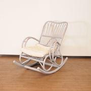【ラタン家具】 ロッキングチェア ホワイト (天然ラタン使用)(直送可能)