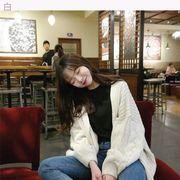 秋冬 新しいデザイン 女性服 韓国風 セーター カーディガン アウターウェア 女 ルース