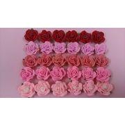樹脂バラ20ミリ 5色から選べます。樹脂粘土バラ お花 レジンやデコパーツにも