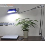【LEDライト】照射面積の広いサイドタイプ! 横長LEDアームライト  白色/電球色