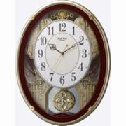 【アウトレット品】リズム時計製 電波掛時計「スモールワールドプラウド」4MN523RH06