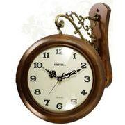 天然木モダン両面時計