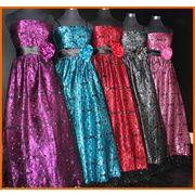ロマネスク柄◆フロッキー切り替え  姫ドレス(コサージュ付)