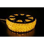 【イエロー・黄色】LEDチューブライト(ロープライト)2芯タイプ/100m/直径10mm/3000球