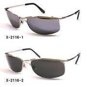 【新製品】メタルフレームサングラス(UVカット)X-2116-1X2116-2