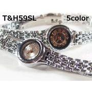T&Hレディース腕時計 メタルウォッチ 日本製ムーブメント
