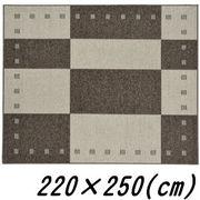 【メーカー直送】 ガナッシュ 国産ラグマット アイボリー 220×250(cm)