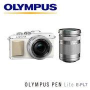 オリンパス ミラーレス一眼レフカメラ OLYMPUS PEN Lite E-PL7 EZダブルズームキット [ホワイト]
