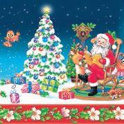 Daisy  ペーパーナプキン クリスマス サンタ×ツリー