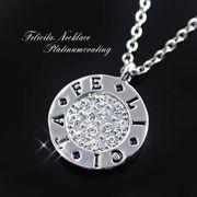 ★幸せの「FELICITA」コインネックレス!極上の輝きのプレシオサ社製クリスタル使用/SL-1130