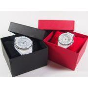 時計ボックス クッション付き 外カバー付き プレゼント ディスプレイ