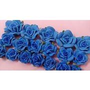 青い樹脂バラ。サイズ別。3サイズから ブルーの樹脂粘土バラ お花