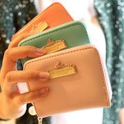 新しいデザイン/財布/短いスタイル/スモールジッパー/女性/財布/財布/小さなコイン袋