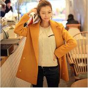 【新作】韓国ファッション/冬物/ゆったりシルエットロングスタイルラシャコート/定番ITEM♪