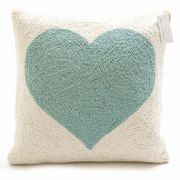【代引不可】Peking Handicraft/30TA34ODC18SQ/LIGHT BLUE HEART/クッションカバー/PILLOW