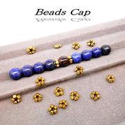 数珠ブレス用★ビーズキャップ(平型・金古美)★SK-Trade