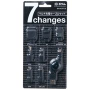 FOMA/3G/au/Dock/PSP/DS/Micro&miniUSB用巻取り式充電ケーブル 黒 BN-MUS7CB
