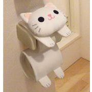 ネコのロールペーパーホルダー