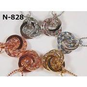 【レディースネックレス】スワロフスキー社製クリスタル使用 エターナルリングネックレス