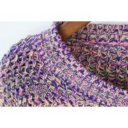 韓国風/清楚感あり/着やせ効果バッチリ/長袖ショートセーター/編物