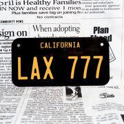 好きな文字にできるアメリカナンバープレート(小・自転車用サイズ)カリフォルニア60年代