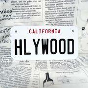 好きな文字にできるアメリカナンバープレート(小・自転車用サイズ)カリフォルニア90年代