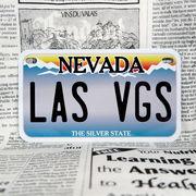 好きな文字にできるアメリカナンバープレート(中・USバイク用サイズ)ネバダ