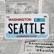好きな文字にできるアメリカナンバープレート(中・USバイク用サイズ)ワシントン