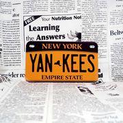 好きな文字にできるアメリカナンバープレート(中・USバイク用サイズ)ニューヨーク2010