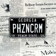 好きな文字にできるアメリカナンバープレート(中・USバイク用サイズ)ジョージア59