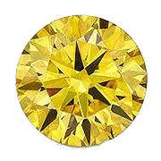 カラーダイヤモンド ブリリアントカット ルース カナディイエロー/約1.0-3.3mm