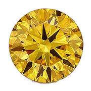 カラーダイヤモンド ブリリアントカット ルース ゴールドイエロー/約1.0-3.3mm