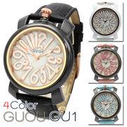 ハイクオリティシェル文字盤 トップリューズ式 レディース 腕時計 GU01