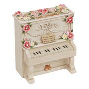 【 アップライトピアノ型ミニオルゴール (アイボリー) 】 ♪Butterfly